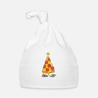 Santa Claus Pizza Christmas Tree - Baby Cap