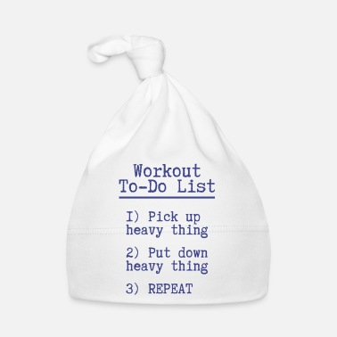 Trainer Workout to do list Fitness Geschenk Gym Sport - Babymütze