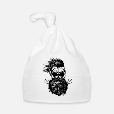 Barba cabeza de muerte hipster cráneo barba barba bigote - Gorro bebé 154adcc4213