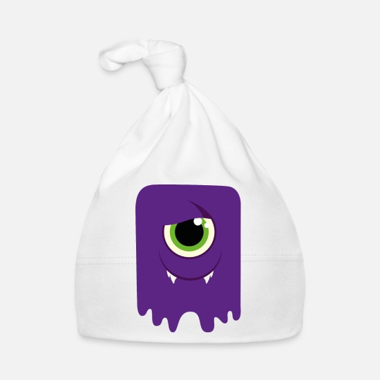 Carneval Baby Clothes - Monster / Alien Papa - Baby Cap white