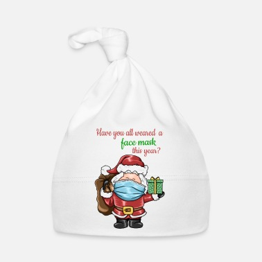 Santa Claus with face mask Nicholas gift - Baby Cap