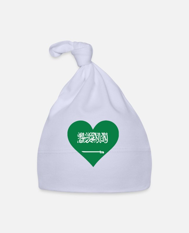 Saudi Arabia Baby Caps - A Heart For Saudi Arabia - Baby Cap sky