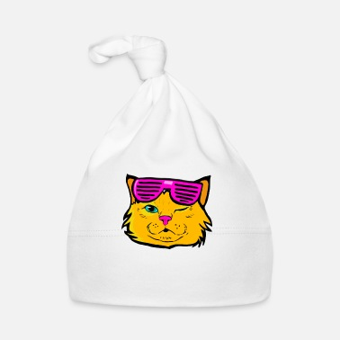 Animal Collection Cat Kitty Kitten Pop Art Colorful Funny Glasses - Baby Cap