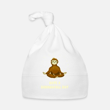 Slow sloth buddha om meditation namaste chill slow - Baby Cap