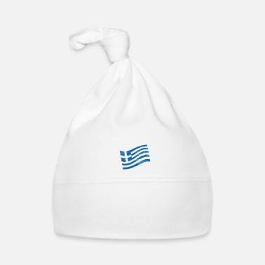 Space Travel Greece conquers space astronaut flag - Baby Cap