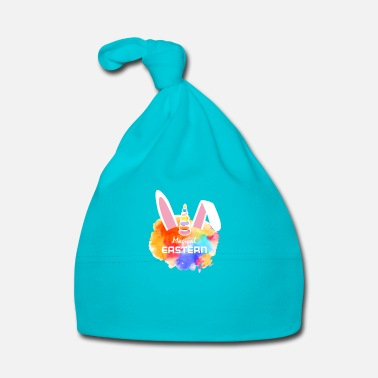 Magic Merry Magical Easter - unicorn bunny - Baby Cap