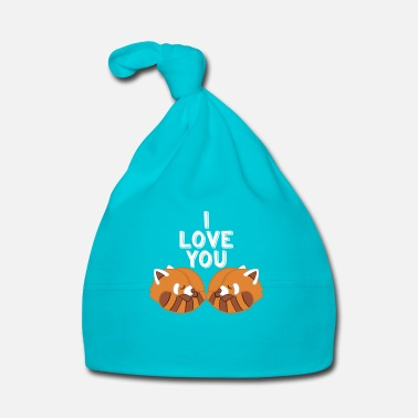 Love You Red Panda - Love - Couple - Partner - Gift - Baby Cap