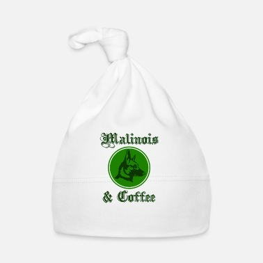 Dog Fashion Malinois & coffee graphic - Baby Cap
