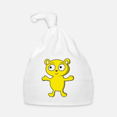 Yellow cute, yellow bear, childlike design - Baby Cap
