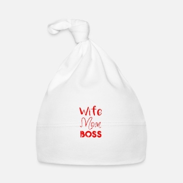 Wife Wife Mom Boss Mothers Day Mommy Chef Wife Marriage - Baby Cap