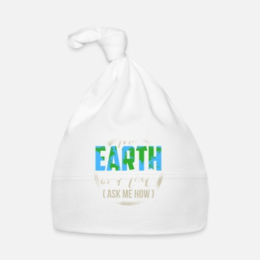 Carte T-shirt regalo The Earth Is Flat Card Society - Cappellino neonato
