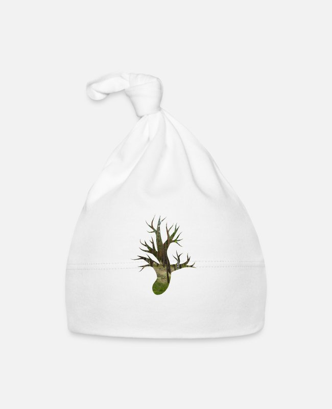 Nature Conservation Baby Caps - Forest root - Baby Cap white