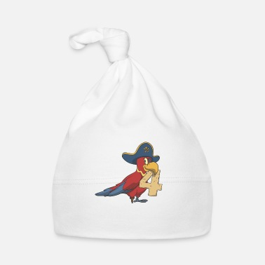 Number Parrot pirate kids birthday 4th birthday - Baby Cap