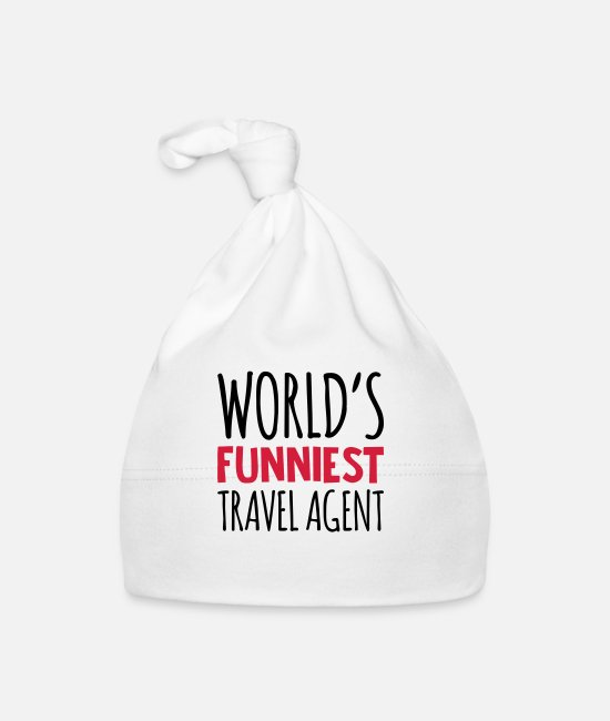 Agent Baby Caps - worlds funniest travel agent - Baby Cap white