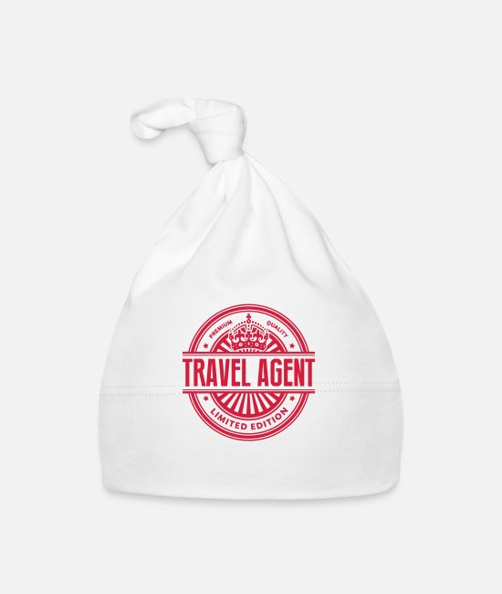 Agent Baby Caps - Limited edition travel agent premium qua - Baby Cap white