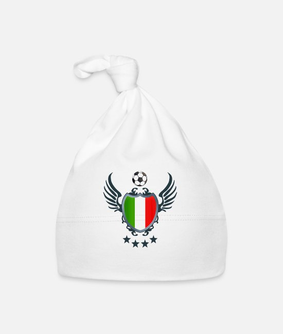 Wing Baby Caps - Italian Football (Coat of Arms & Wings) 01 - Baby Cap white