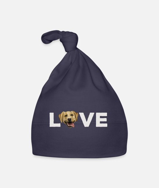 Female Dog Baby Caps - Dog - Labrador love - Baby Cap navy