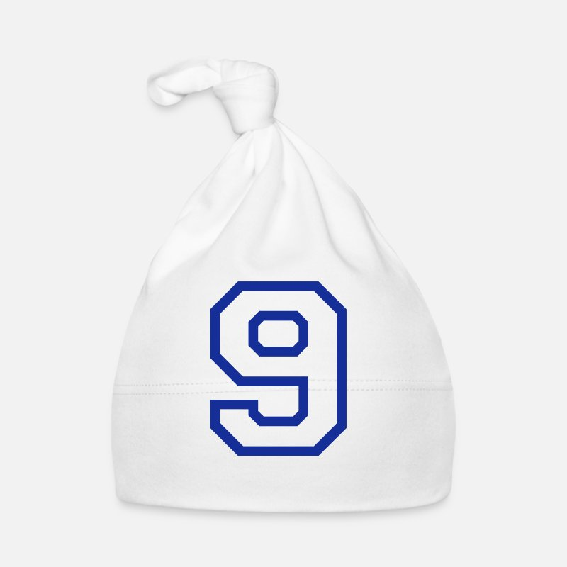 Number Nine Baby Clothing - THE NUMBER 9-NINE - Baby Cap white