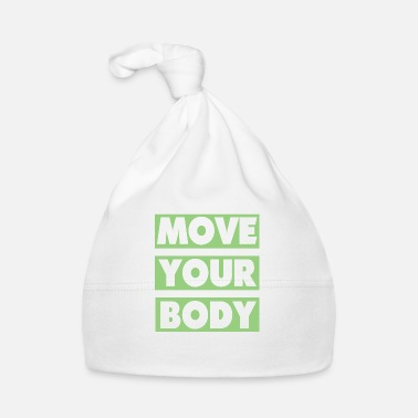 Streetwear move your body - white green - Baby Cap