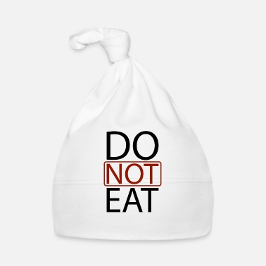 Nota Do Not Eat - Gorro bebé
