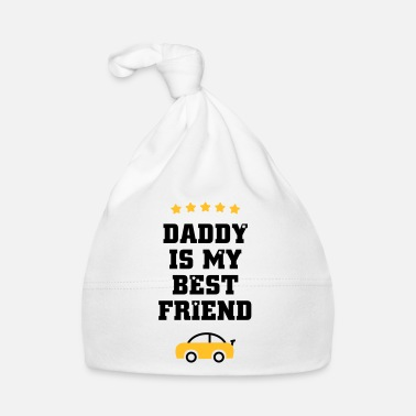 Dad is my best friend with racing car Baby Bodysuits - Baby Cap