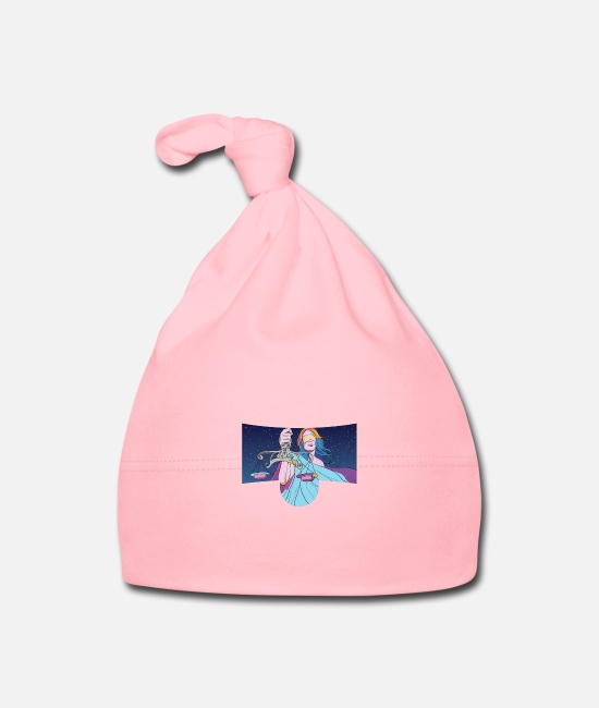 Zodiac Baby Caps - Weight scale - Baby Cap light pink