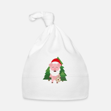 Present Santa Pig in Forest with Presents - Baby Cap