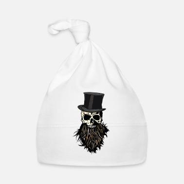 Nose head of death hipster bearded beard skull ring nose - Baby Cap