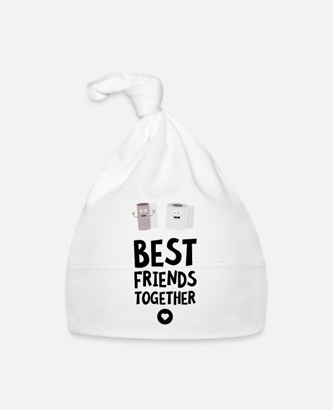 Nature Baby Caps - Toiletpaper Best friends Heart Sjfej - Baby Cap white