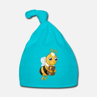 Bee Hardworking cartoon honey bee - Baby Cap