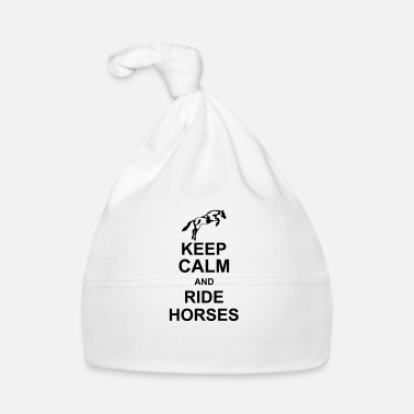 Keep Calm keep calm and rider horses kg10 - Bonnet Bébé
