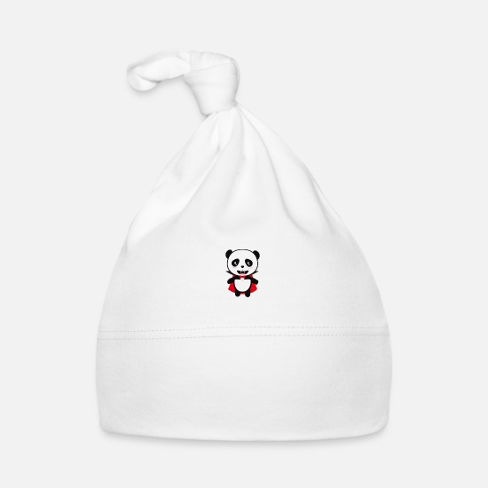 Vampire Baby Clothes - Panda Vampire born in April Gift - Baby Cap white