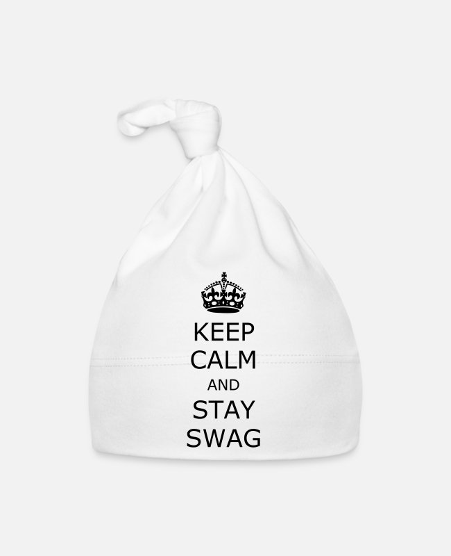 Calm Baby Caps - Keep calm and stay swag - Baby Cap white