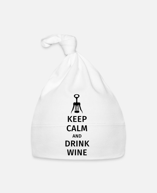 Tinto Gorras bebé - keep calm and drink wine - Gorro bebé blanco