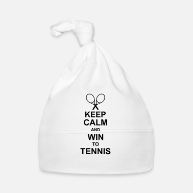 Red keep_calm_and_win_to_tennis_g1 - Gorro bebé