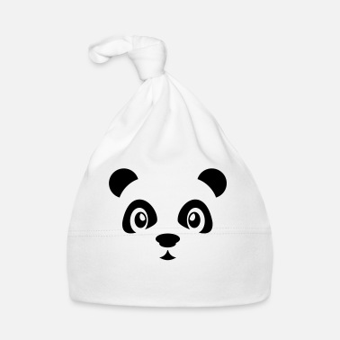 Hipster Cute panda bear animal - Panda bear - Zoo - Chine - Bonnet Bébé 3be0f121d81