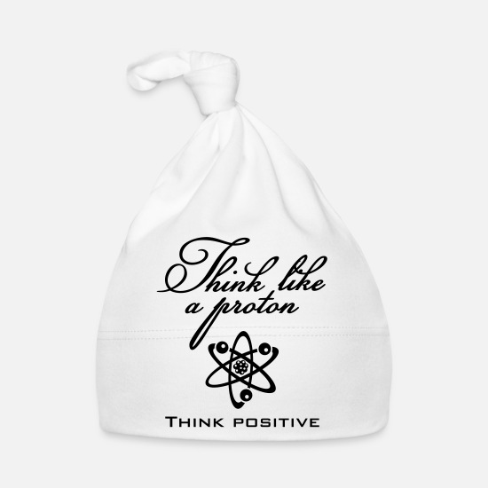 Think Baby Clothes - Think like a proton (1c) - Baby Cap white