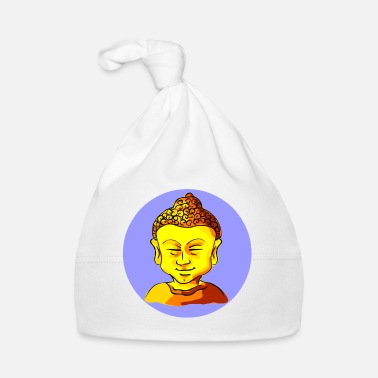 Pillow Buddha yellow gold. In the circle. Rest and strength. - Baby Cap