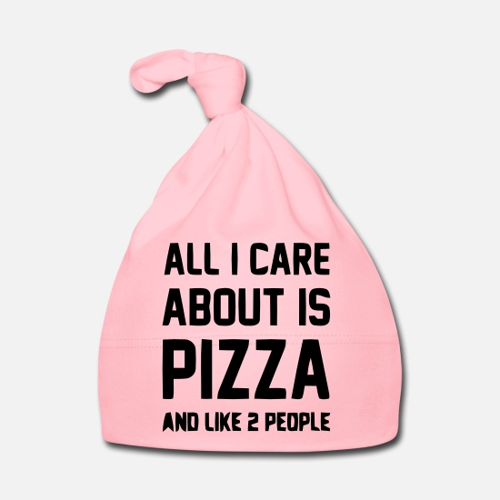 Pizza  Babykleding - Pizza - Baby muts light roze