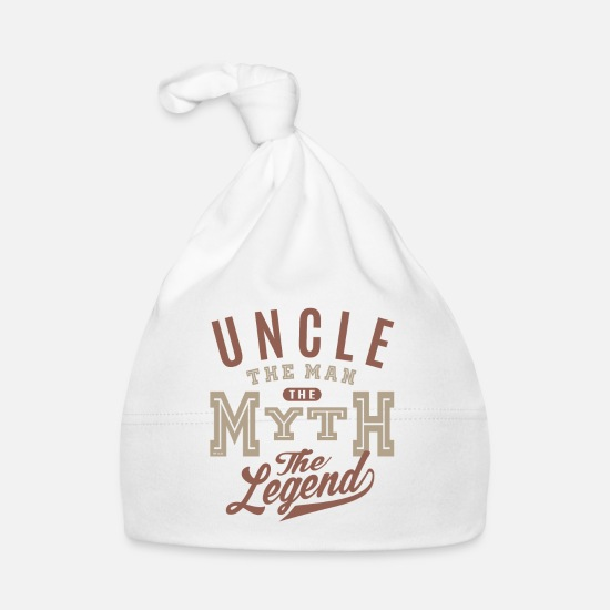 Father's Day Baby Clothes - Uncle The Man - Baby Cap white