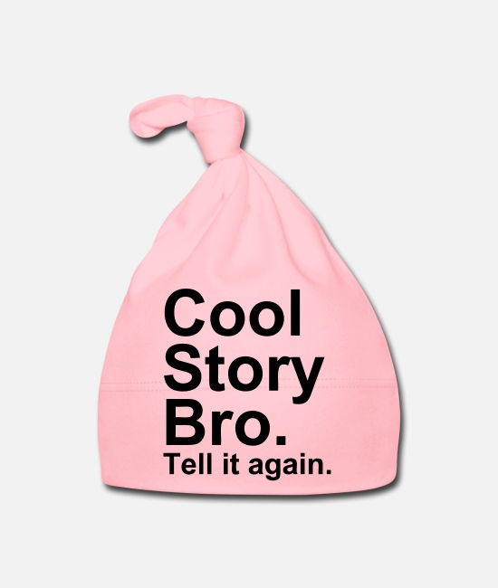 U Mad Bro Baby Caps - Cool Story Bro - Baby Cap light pink