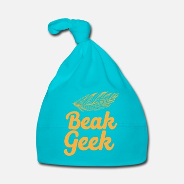 Beak beak geek in orange with a feather - Baby Cap