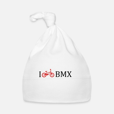 Bold I love BMX bike gift idea youth - Baby Cap