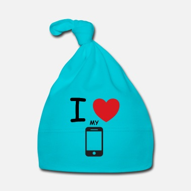 Mobile Phone I love my mobile saying gift idea - Baby Cap