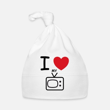 Tv I Love my TV dicendo idea regalo - Cappellino neonato