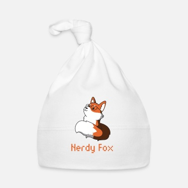 Glass Fox with glasses nerd nerdy gift animal idea - Baby Cap