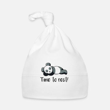Rest Panda is resting from gift sleeping idea bear - Baby Cap
