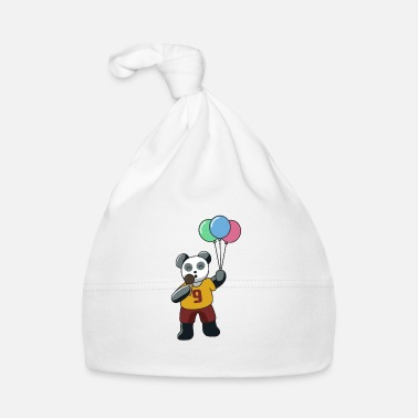Kindergarten Panda with balloons and ice cream gift idea kids bear - Baby Cap