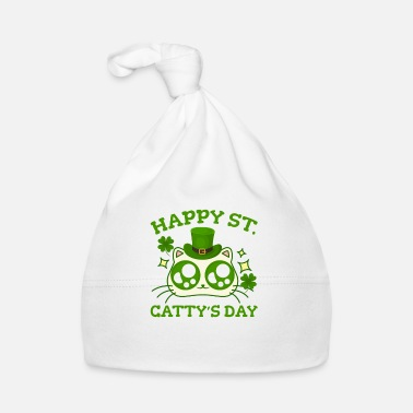 St Happy St. Cattys dag St Patricks Funny Cat Clover - Babyhue