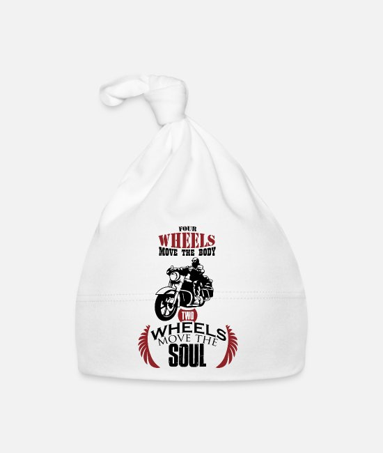 Pilot Baby Caps - Motorcycle two wheels move the soul gift - Baby Cap white